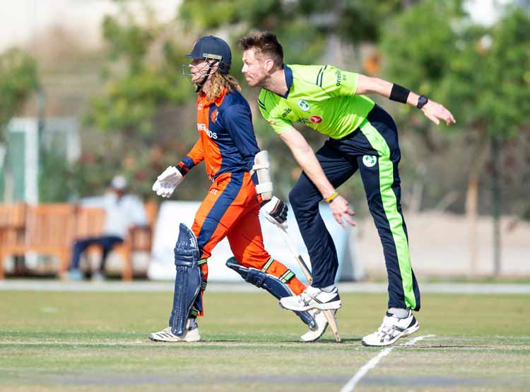as Ireland take on the Netherlands on the third day of the Oman Quadrangular Series.